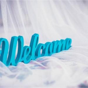 Табличка «Welcome»